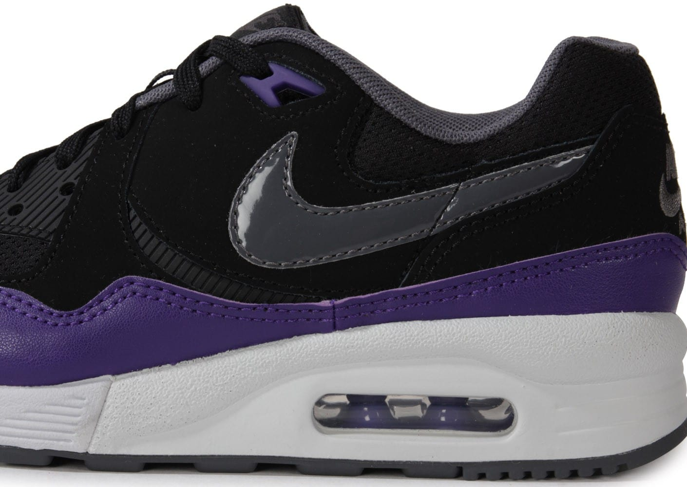 nike air max light noir violet chaussures chaussures chausport. Black Bedroom Furniture Sets. Home Design Ideas