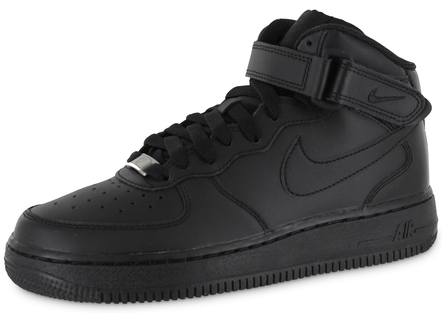 nike air force 1 mid j triple black chaussures black friday chausport. Black Bedroom Furniture Sets. Home Design Ideas