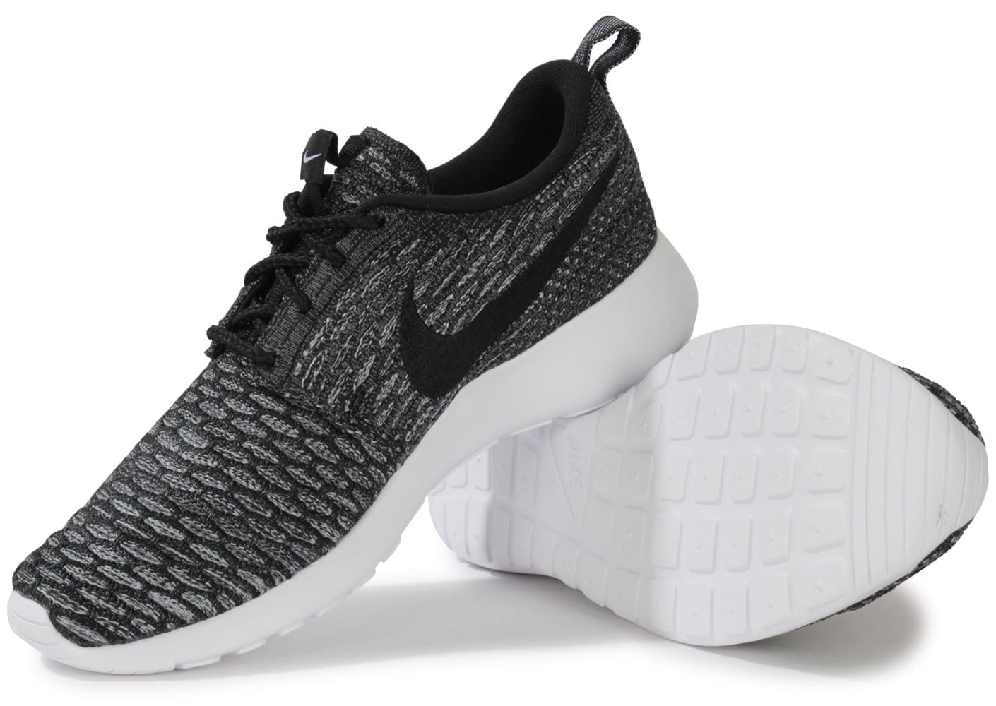 grossiste c7ae3 83bec Nike Roshe Run Flyknit Grise Et Noir - Chaussures Chaussures ...