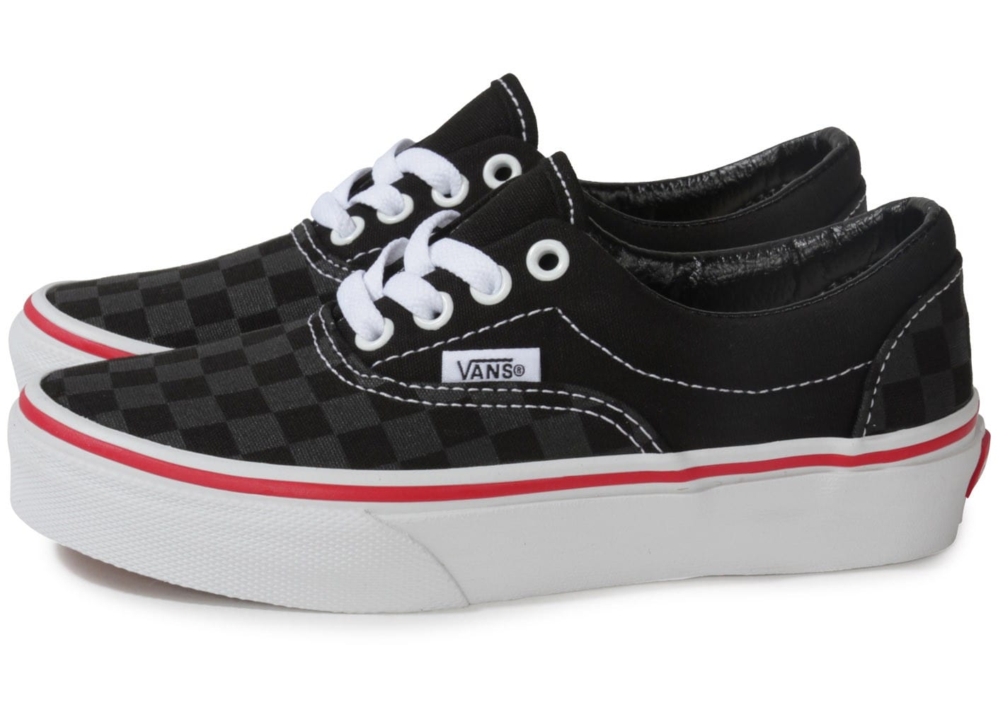 vans era enfant damier noir chaussures chaussures chausport. Black Bedroom Furniture Sets. Home Design Ideas