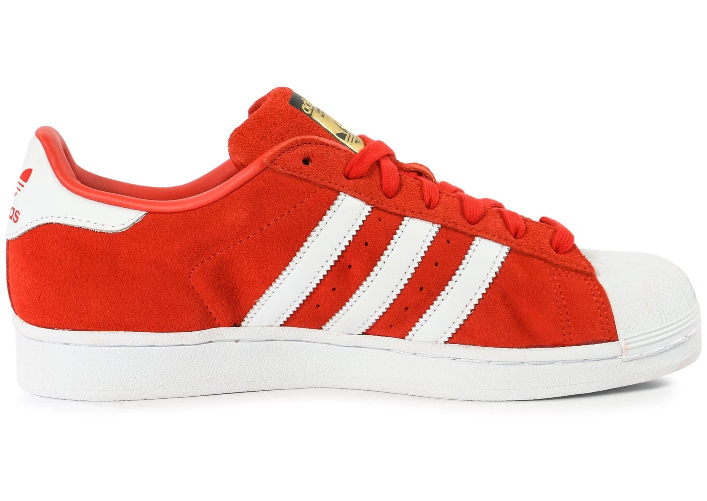 get cheap shades of wholesale online adidas Superstar Suede rouge et blanche - Chaussures Baskets ...