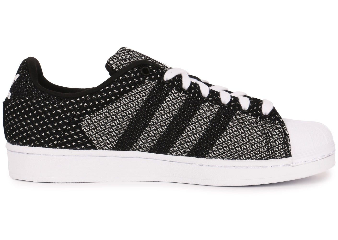 low priced f80fd 9924a ... Chaussures adidas Superstar Weave noire vue dessous ...