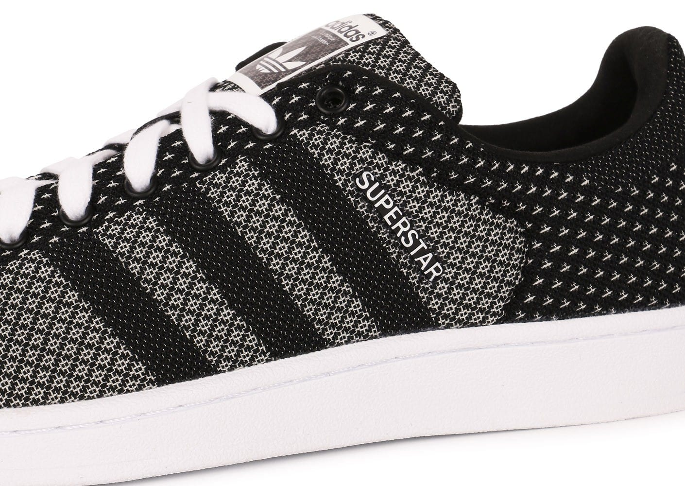 huge selection of c0b3d 512bc ... Chaussures adidas Superstar Weave noire vue dessus