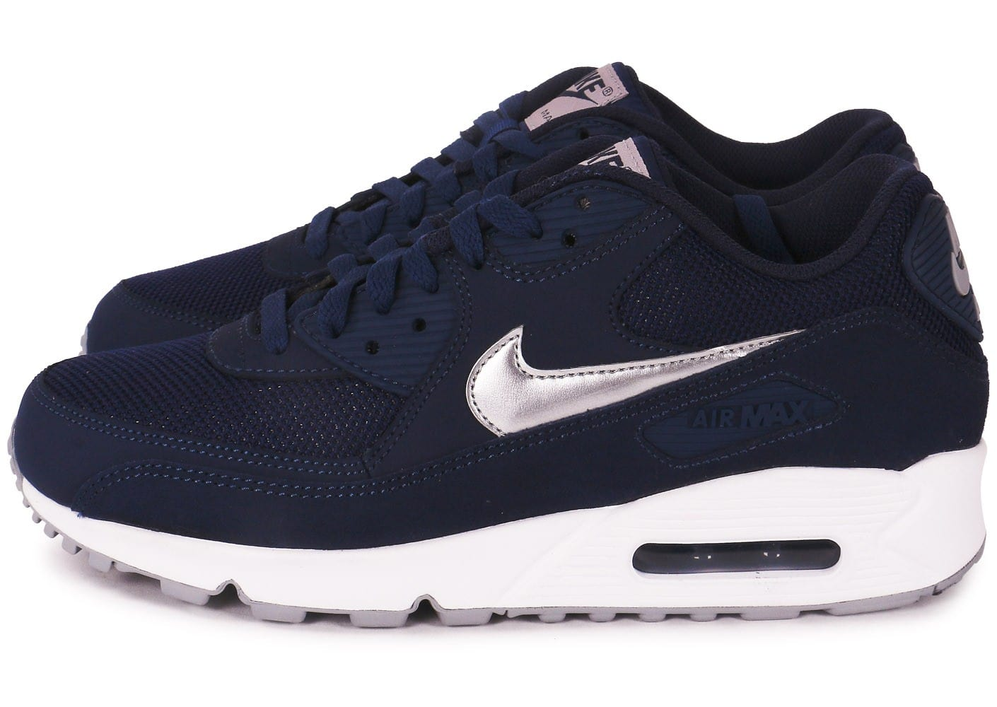 cheaper on wholesale official Nike Air Max 90 marine et blanc - Chaussures Baskets homme - Chausport