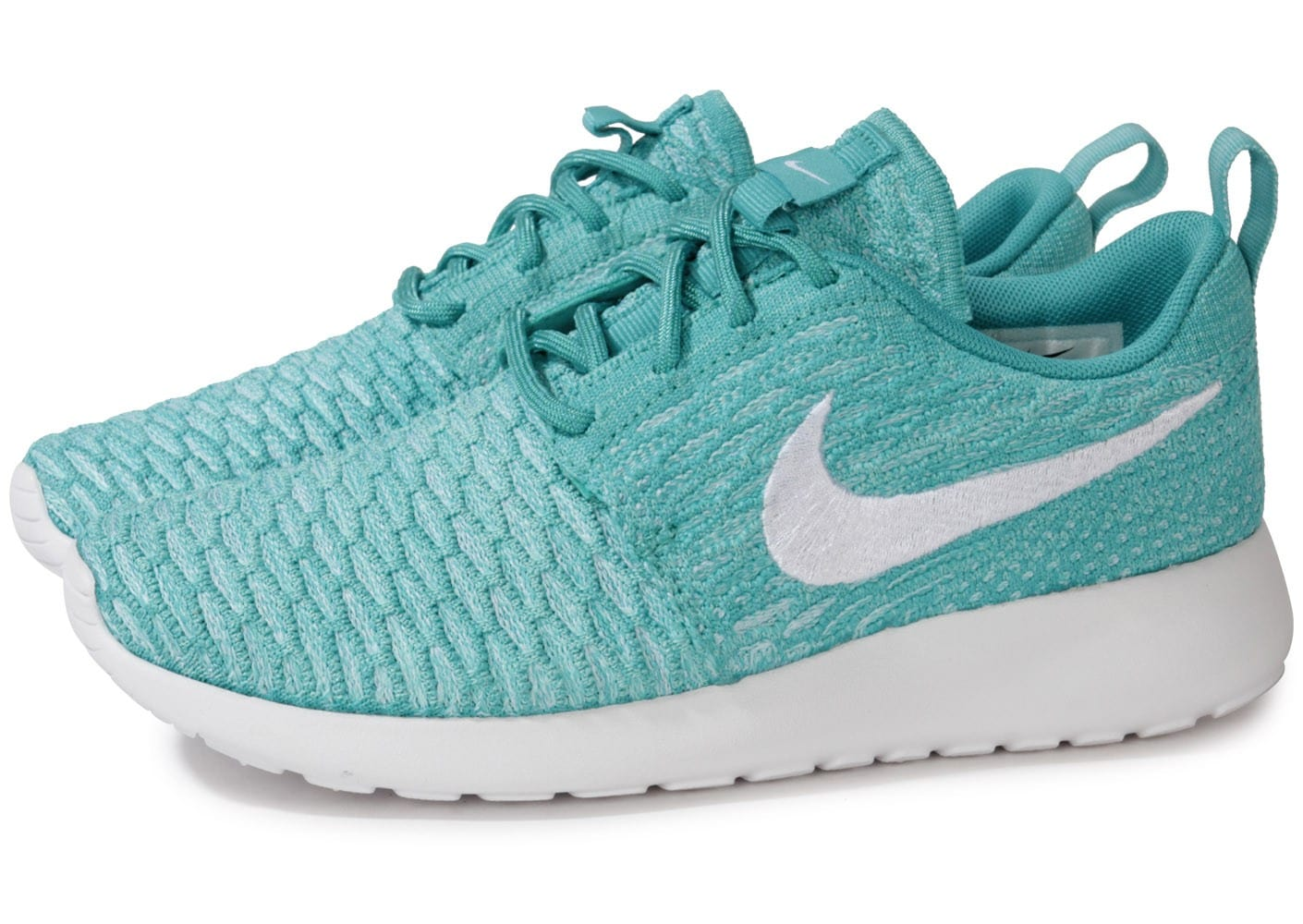 Nike Roshe Run Flyknit Turquoise Chaussures Chaussures