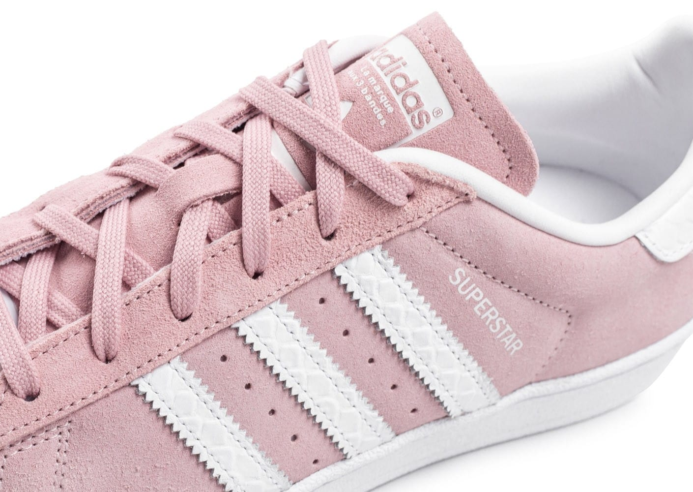 adidas superstar blanche et rose pale