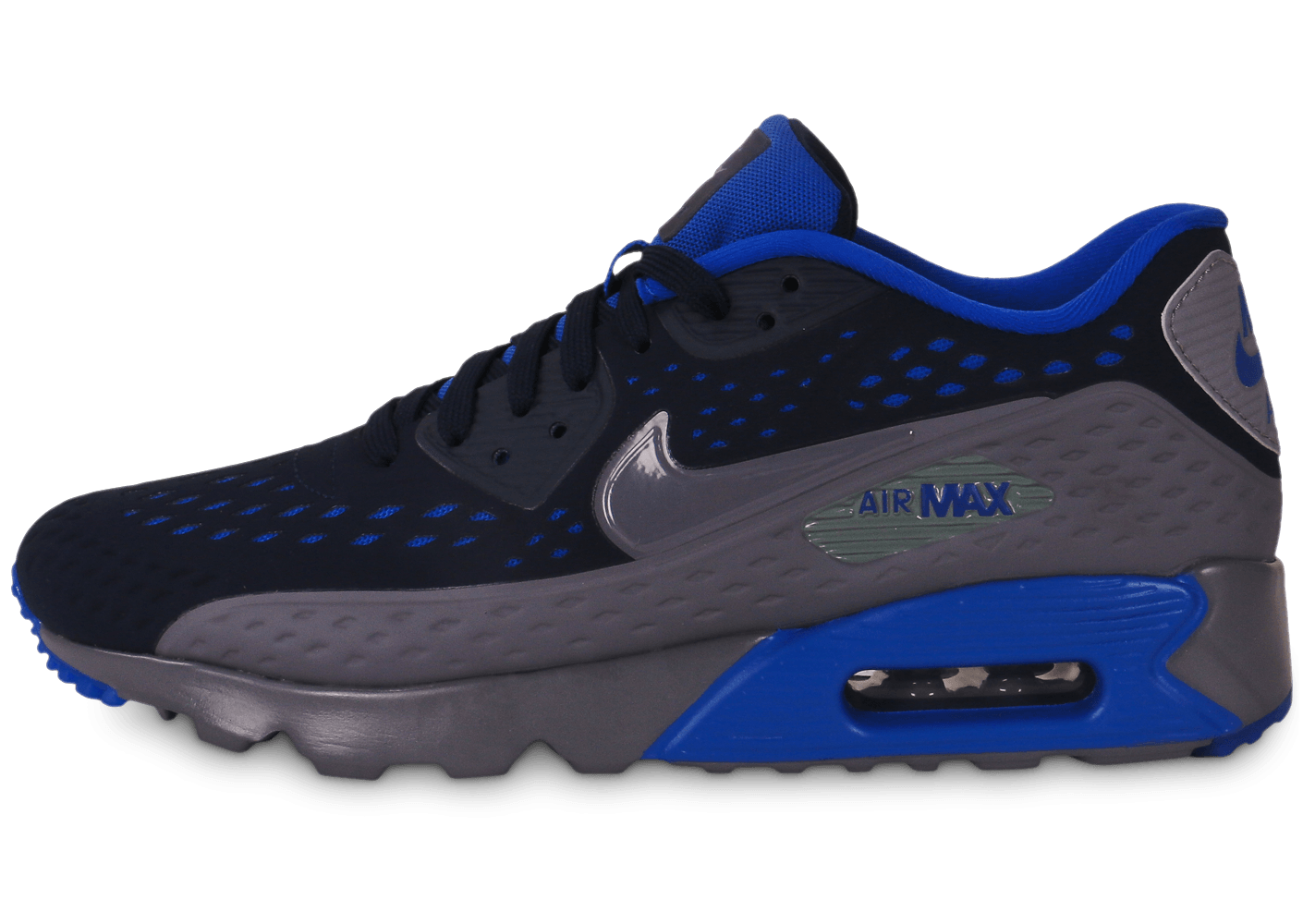 low priced 2e483 a82b8 Nike Air Max 90 ultra Breathe bleu et gris - Chaussures Baskets homme -  Chausport