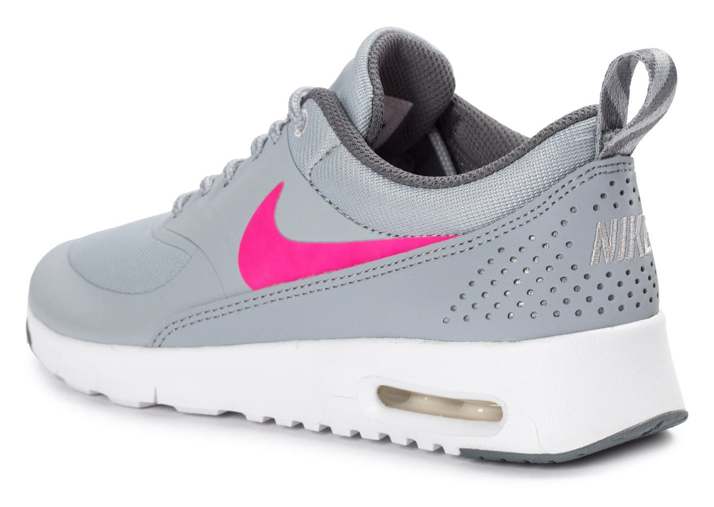 brand new 7048a 0708e ... Chaussures Nike Air Max Thea Junior grise et rose vue arrière ...