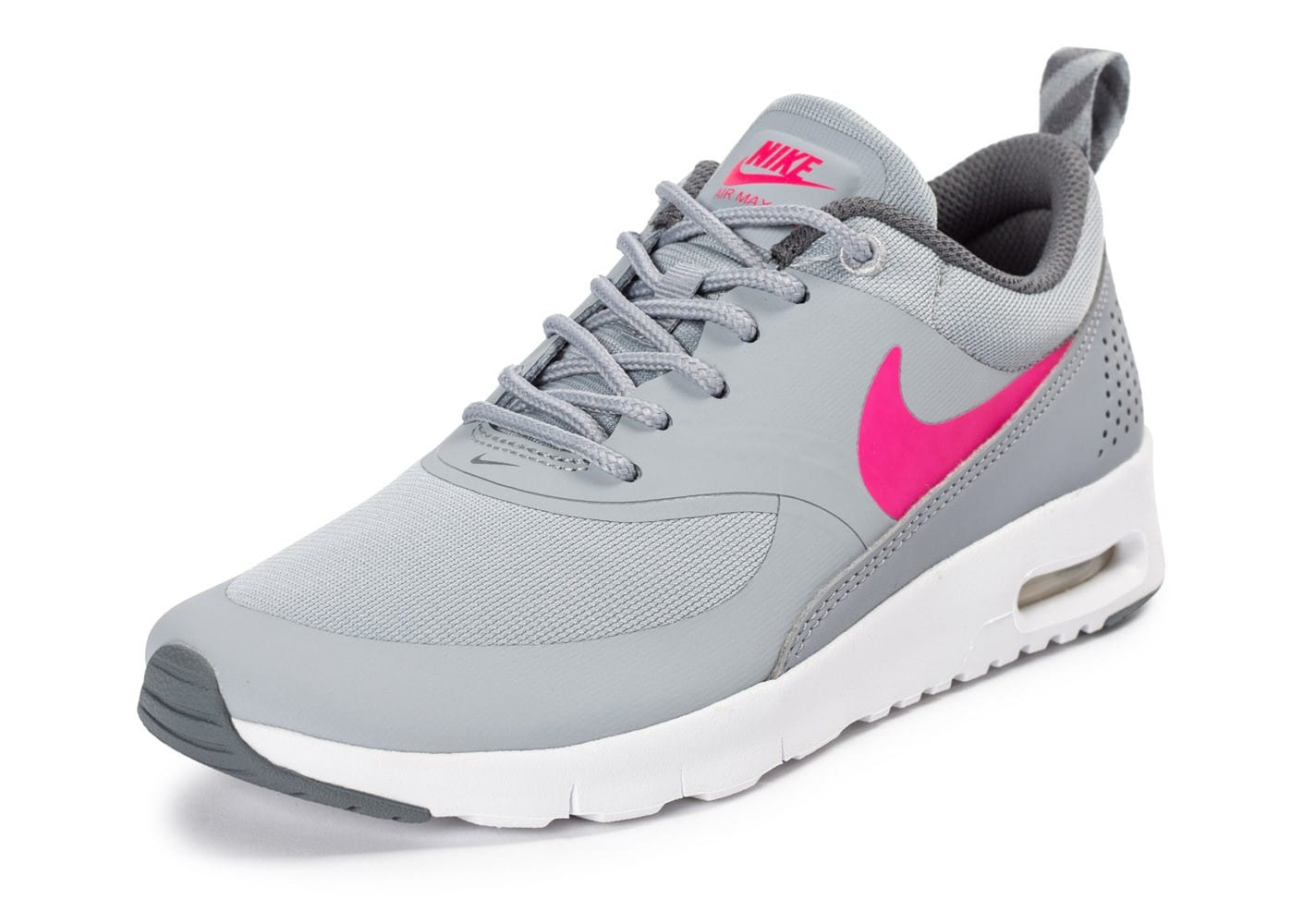timeless design 8596d c9e8b ... Chaussures Nike Air Max Thea Junior grise et rose vue avant ...