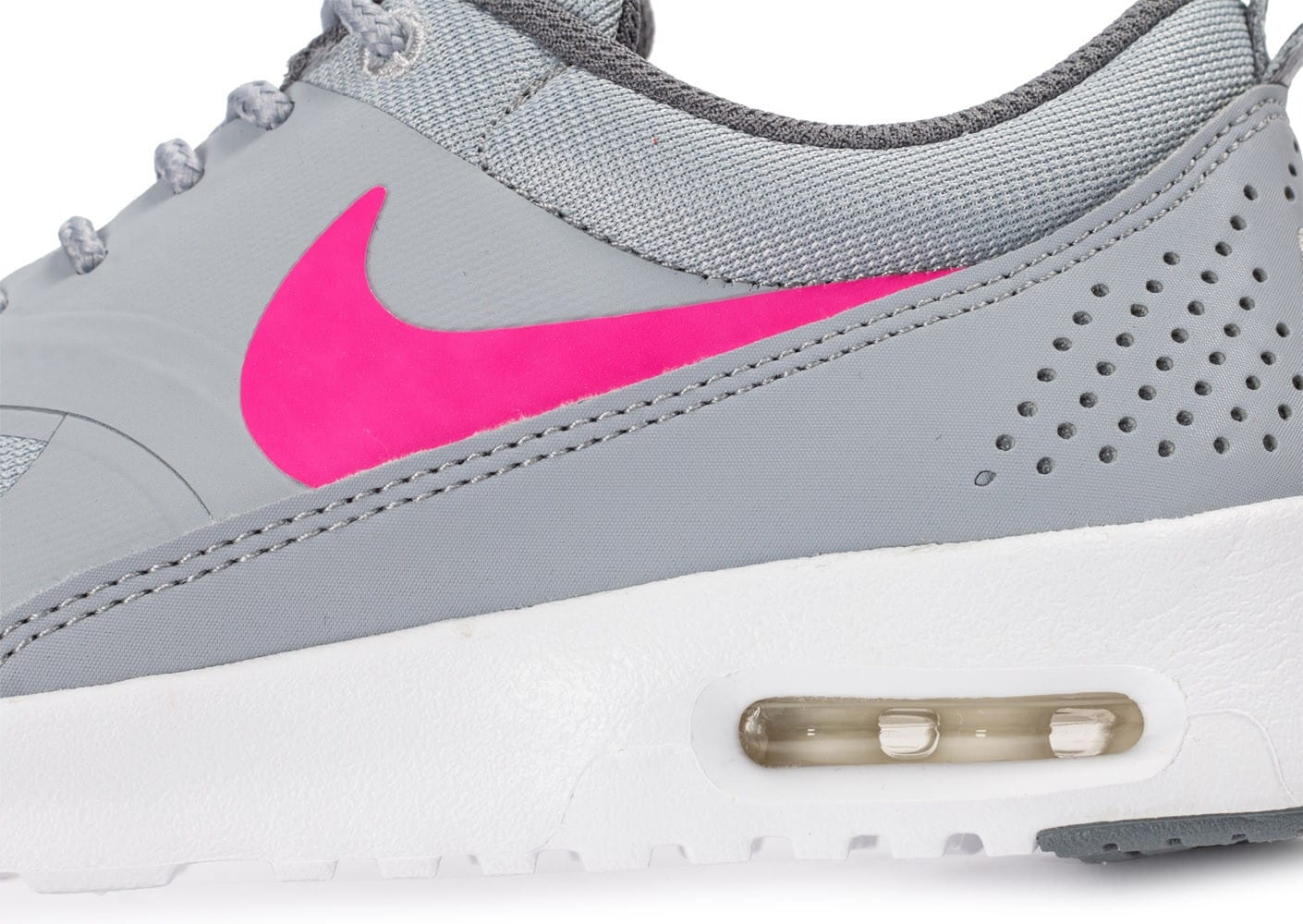 new product 8d0f0 ab207 ... Chaussures Nike Air Max Thea Junior grise et rose vue dessus