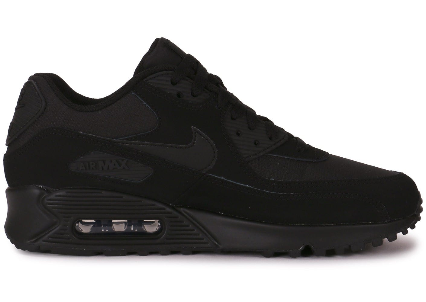 le dernier 5cca6 82438 Nike Air Max 90 Essential Triple Black - Chaussures Baskets ...