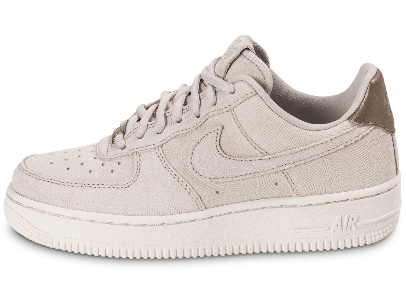 brand new ace80 9b080 Nike Air Force 1 Premium Suede Gamma grey - Chaussures Baskets femme -  Chausport