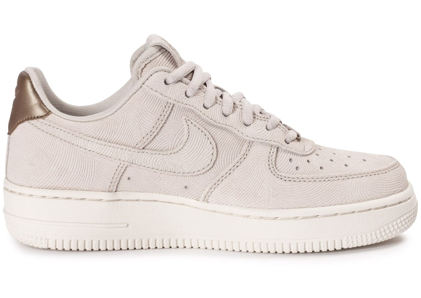 buy popular 87150 44c75 ... Chaussures Nike Air Force 1 Premium Suede Gamma grey vue dessous ...