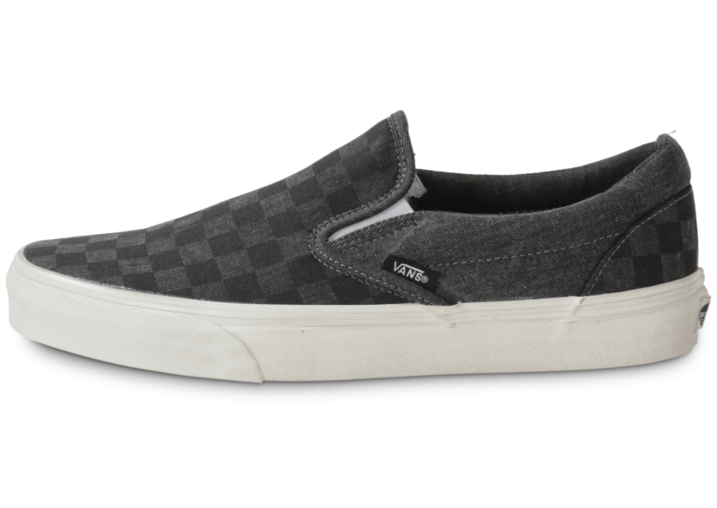 Vans Classic Slip-on Damier Grise - Chaussures Baskets homme ...