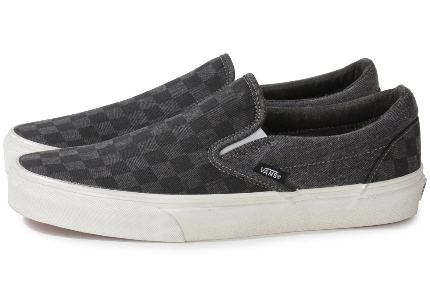Vans Classic Slip on Damier Grise Chaussures Baskets homme