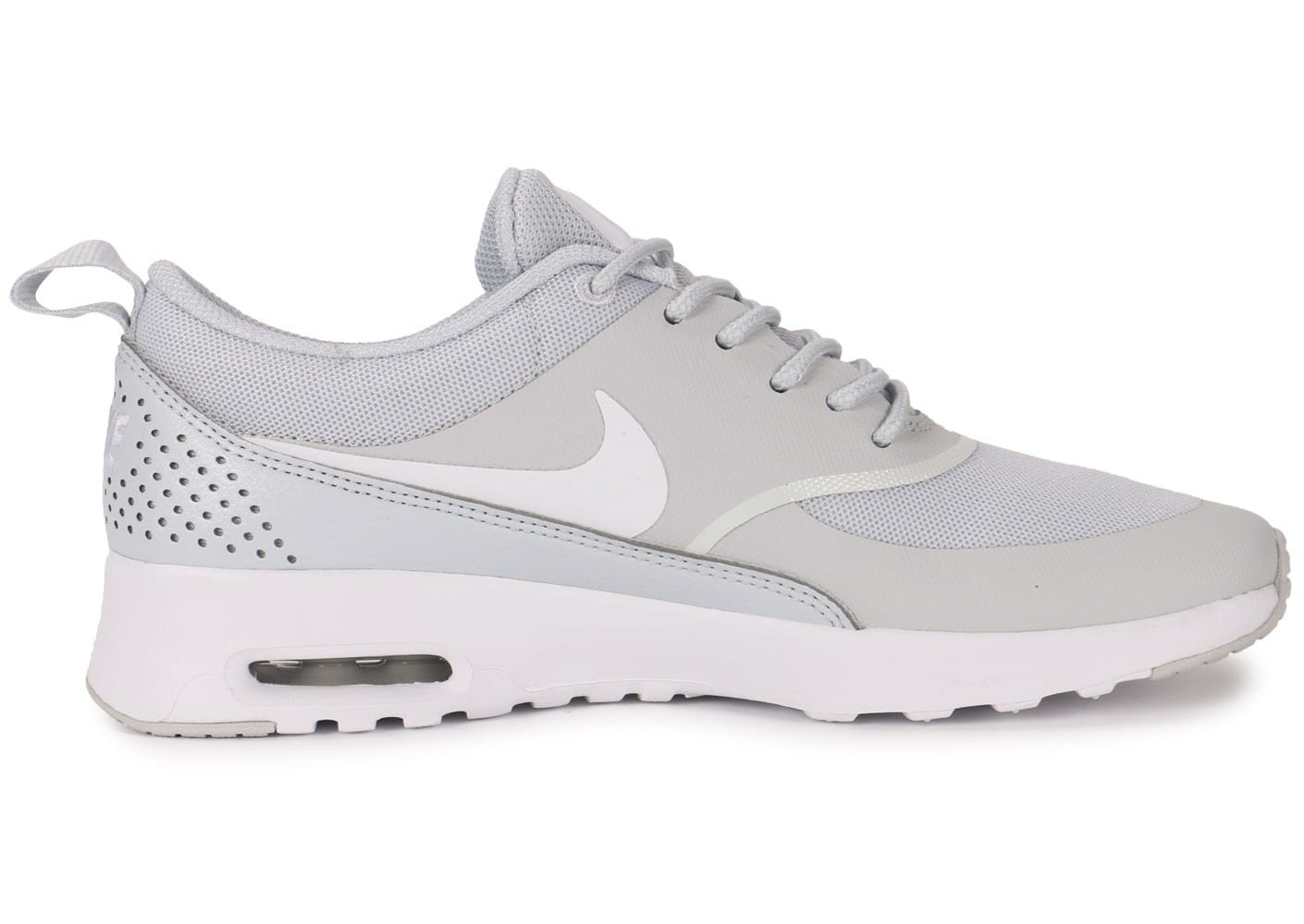 check out 3a779 28e34 ... Chaussures Nike Air Max Thea grise vue dessous ...