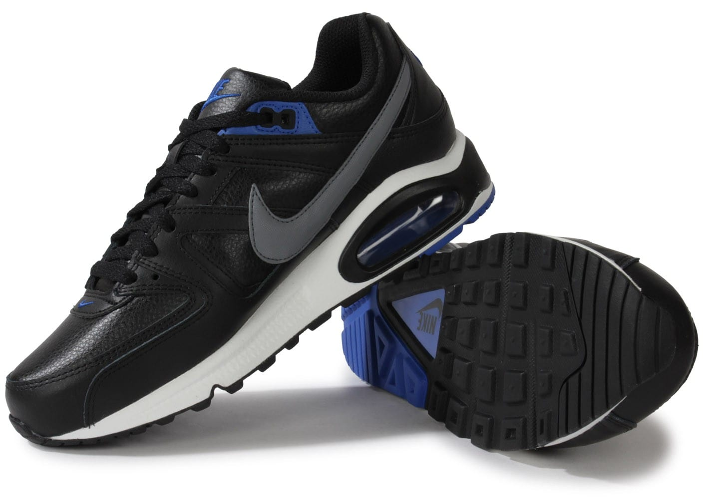 grossiste 09753 182c6 Nike Air Max Command Cuir Noire - Chaussures Baskets homme ...