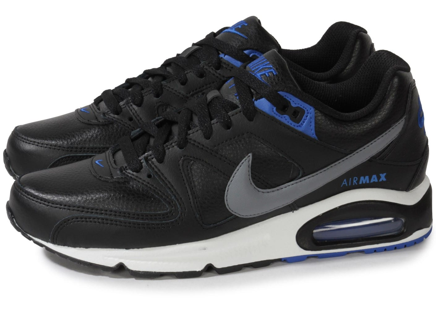 grossiste a7723 32030 Nike Air Max Command Cuir Noire - Chaussures Baskets homme ...