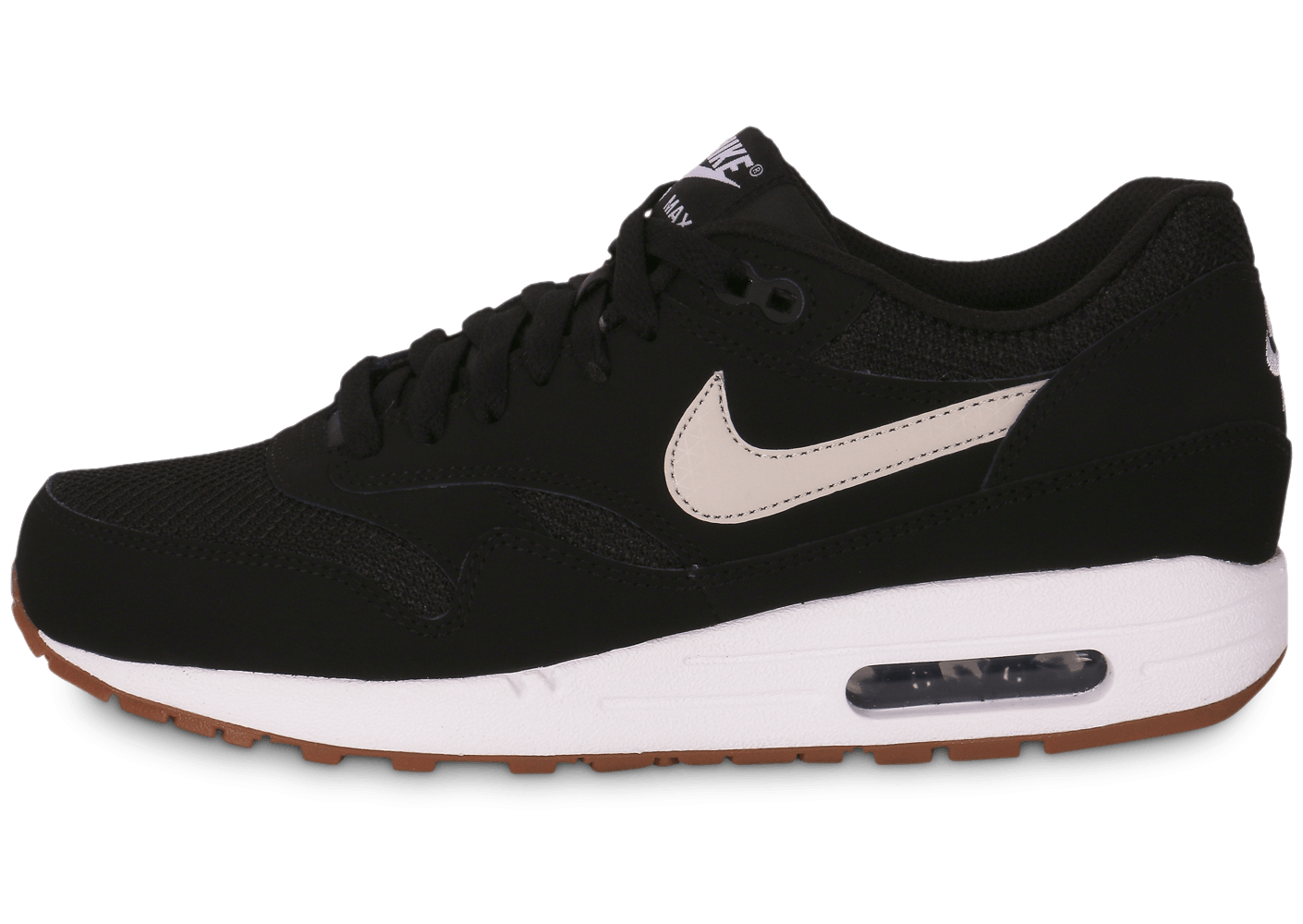 18c28758a8c ... ireland nike air max 1 essential black gum chaussures baskets homme  chausport 0e972 5c074
