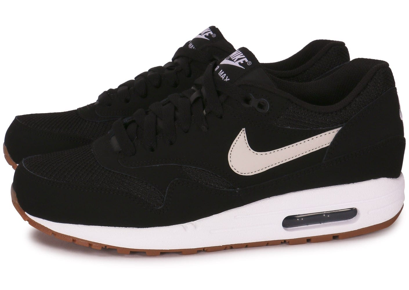 Nike Air Max 1 Essential Black Gum Chaussures Baskets