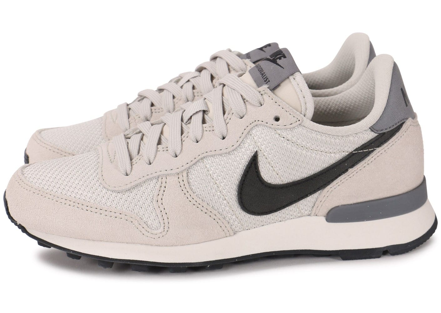 nike internationalist femme gris rouge