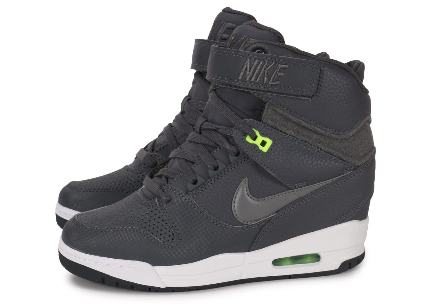 Nike Air Revolution Sky Hi grise - Chaussures Chaussures ...