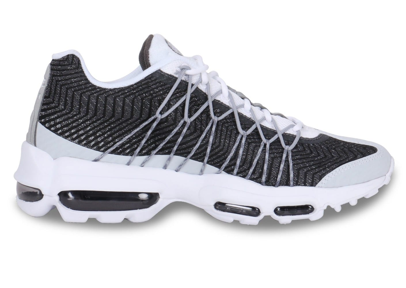 low priced 64563 b78df ... Chaussures Nike Air Max 95 Ultra Jacquard Blanc Gris vue arrière ...