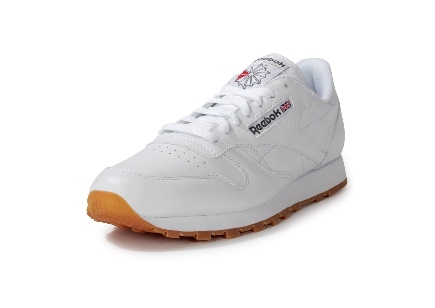 6d39e131689be Reebok Classic Leather Blanche Gum - Chaussures Baskets homme ...