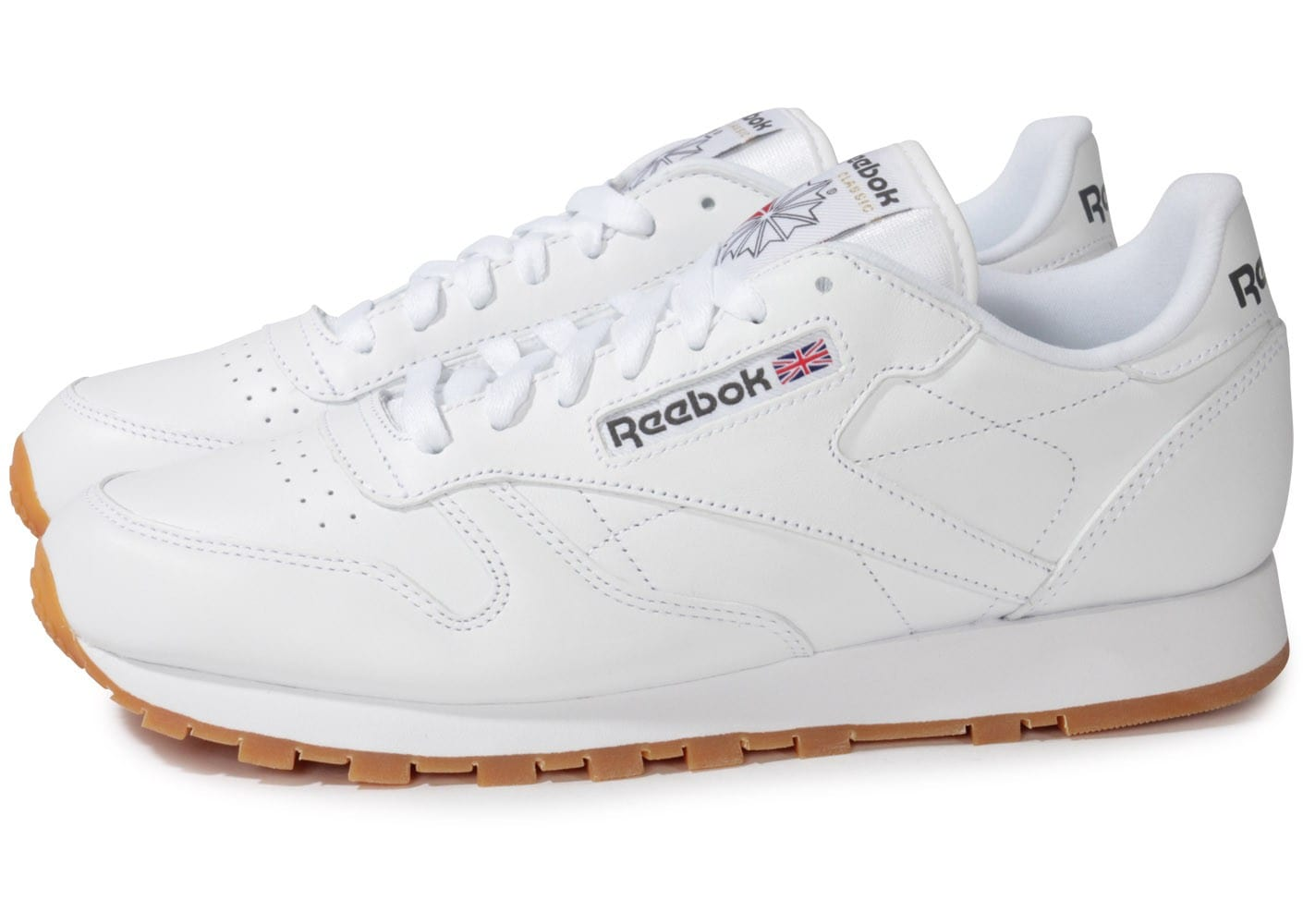 Reebok Classic Leather Blanche Gum Chaussures Baskets