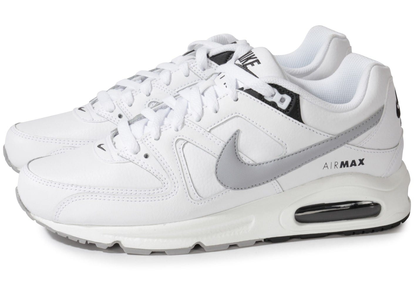 chaussures de sport b6bdb 760d8 Nike Air Max Command Blanche - Chaussures Baskets homme ...
