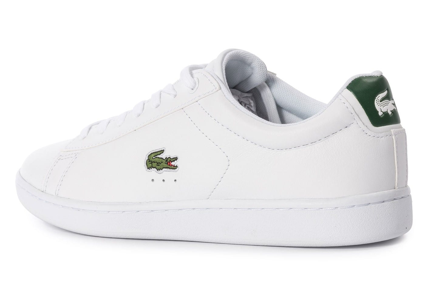 Lacoste Carnaby EL blanche et verte Chaussures Baskets