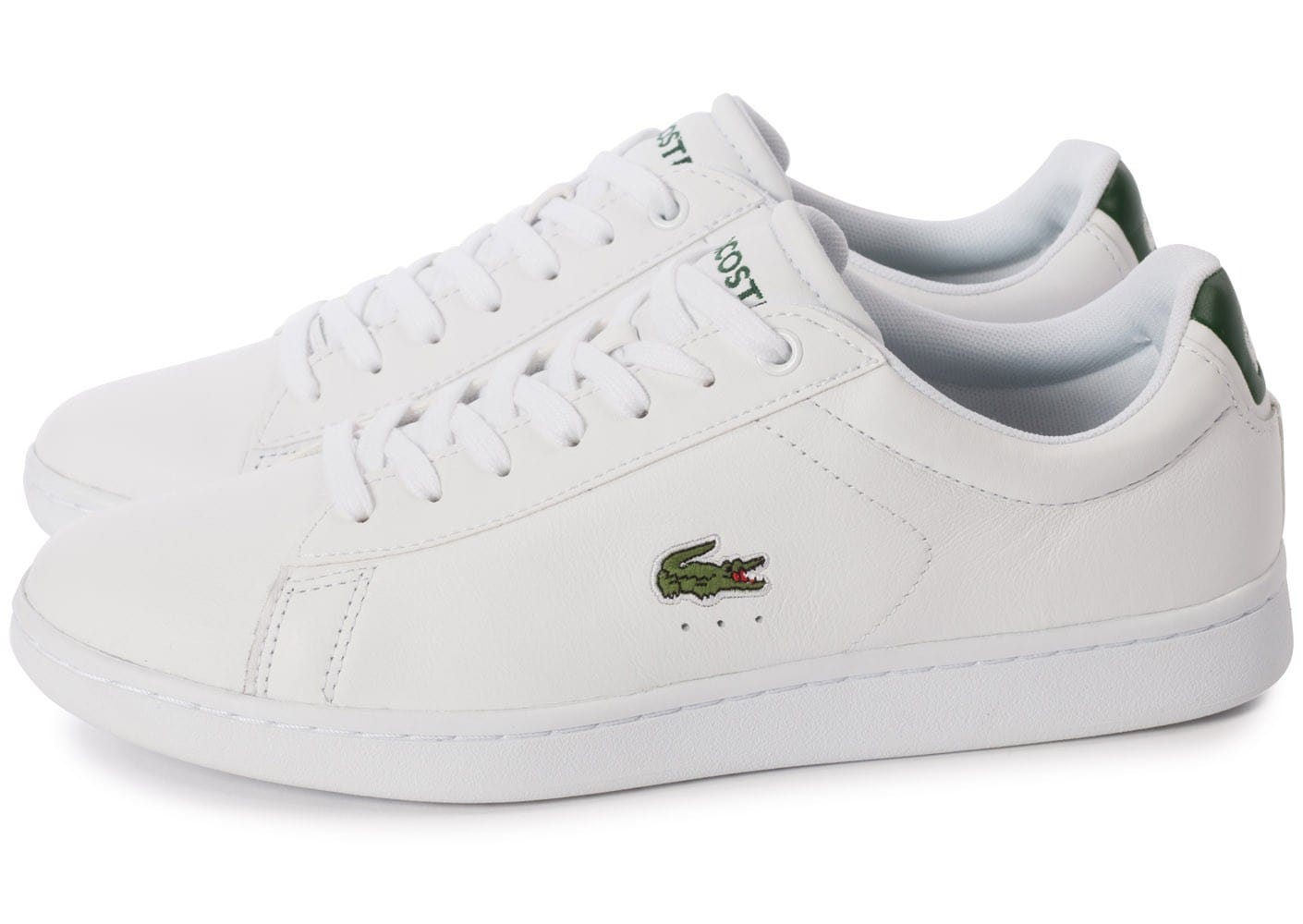 Lacoste Baskets basses Carnaby Blanc et vert PwKMXO