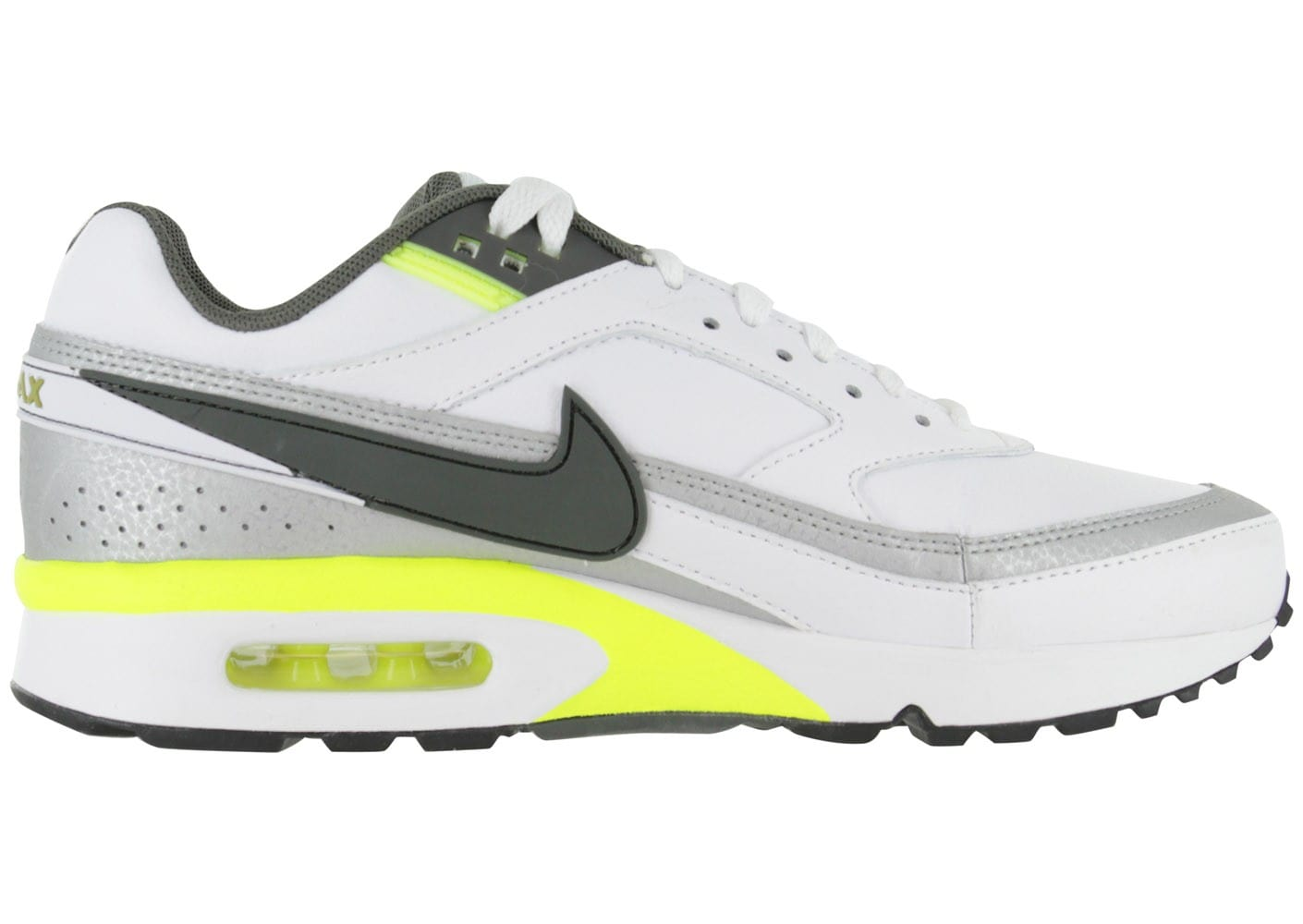 pretty nice 70225 d41ee ... Chaussures Nike Air Max Bw Cuir Blanche vue intérieure ...