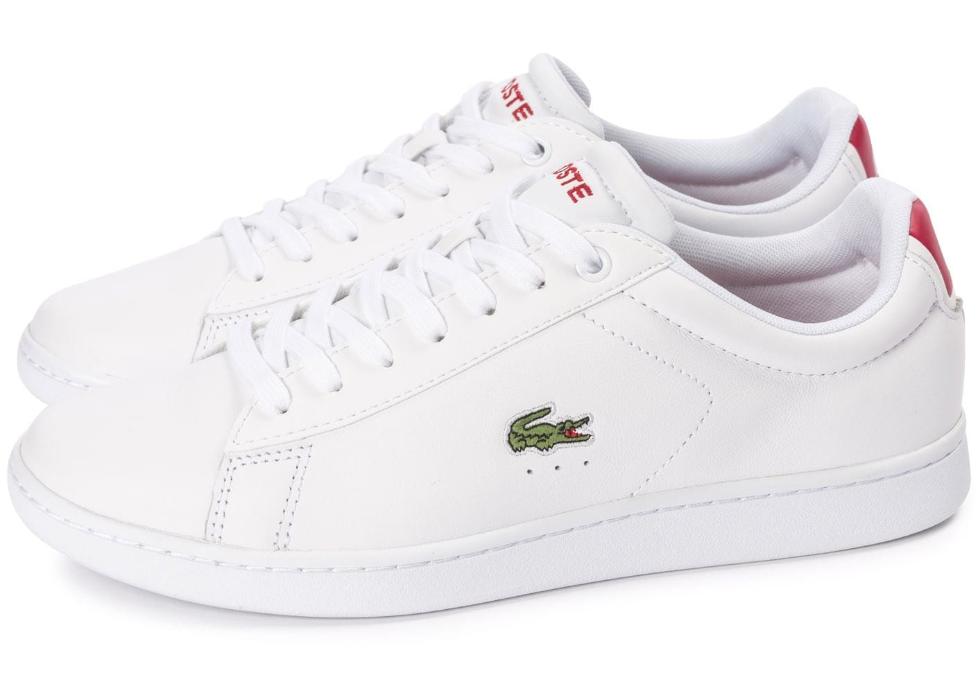 Chaussures Lacoste Carnaby blanches femme