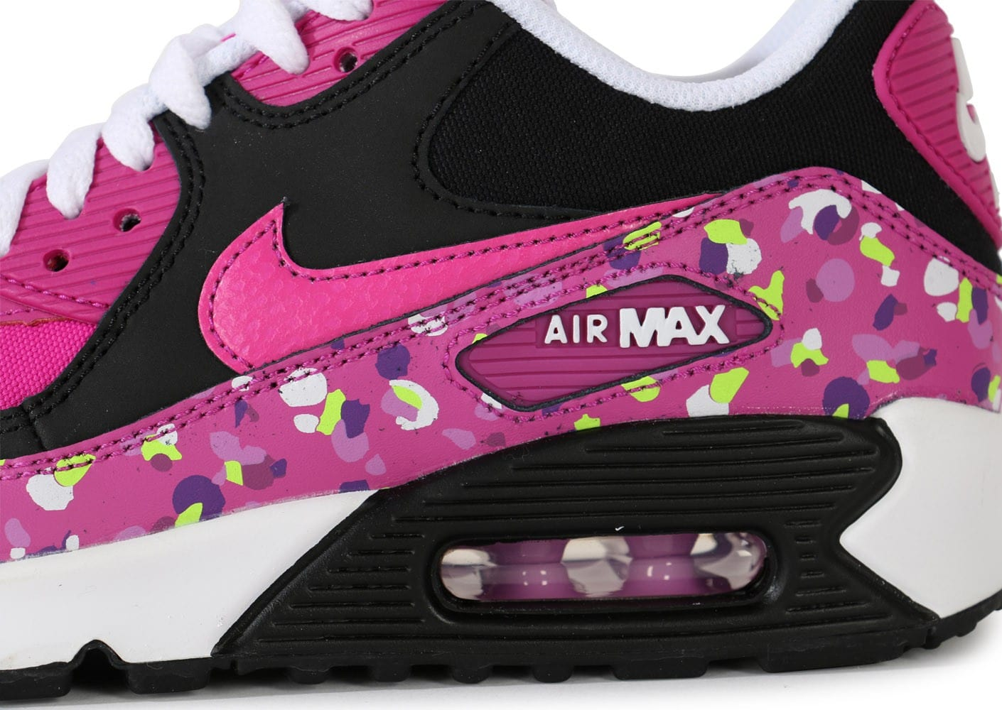 best website 89cae 317b2 ... promo code for chaussures nike air max 90 premium mesh fushia junior  vue dessus 6fe1c 4809c