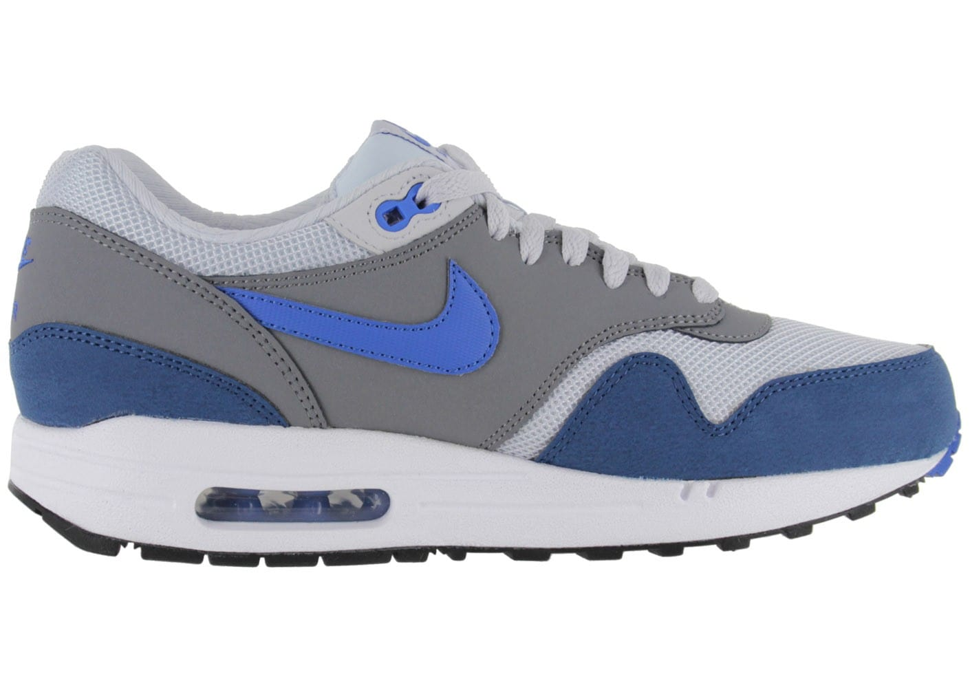 nike air max 1 premium blanc bleu chaussures baskets homme chausport. Black Bedroom Furniture Sets. Home Design Ideas