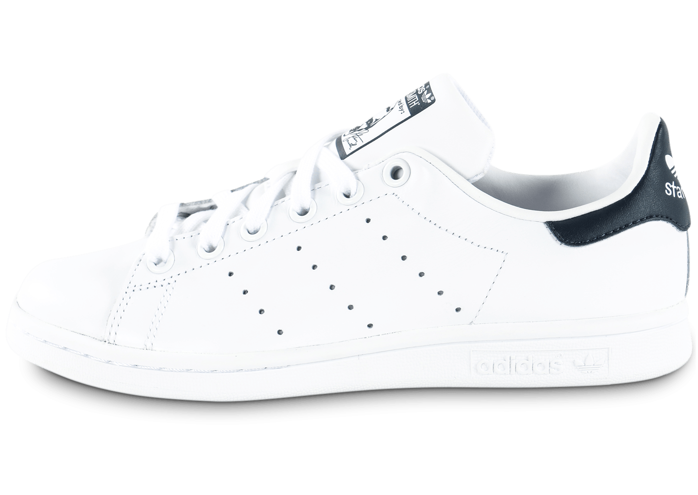 site full of Chaussures 50% off 853c6 0c3cc marine blanc adidas stan
