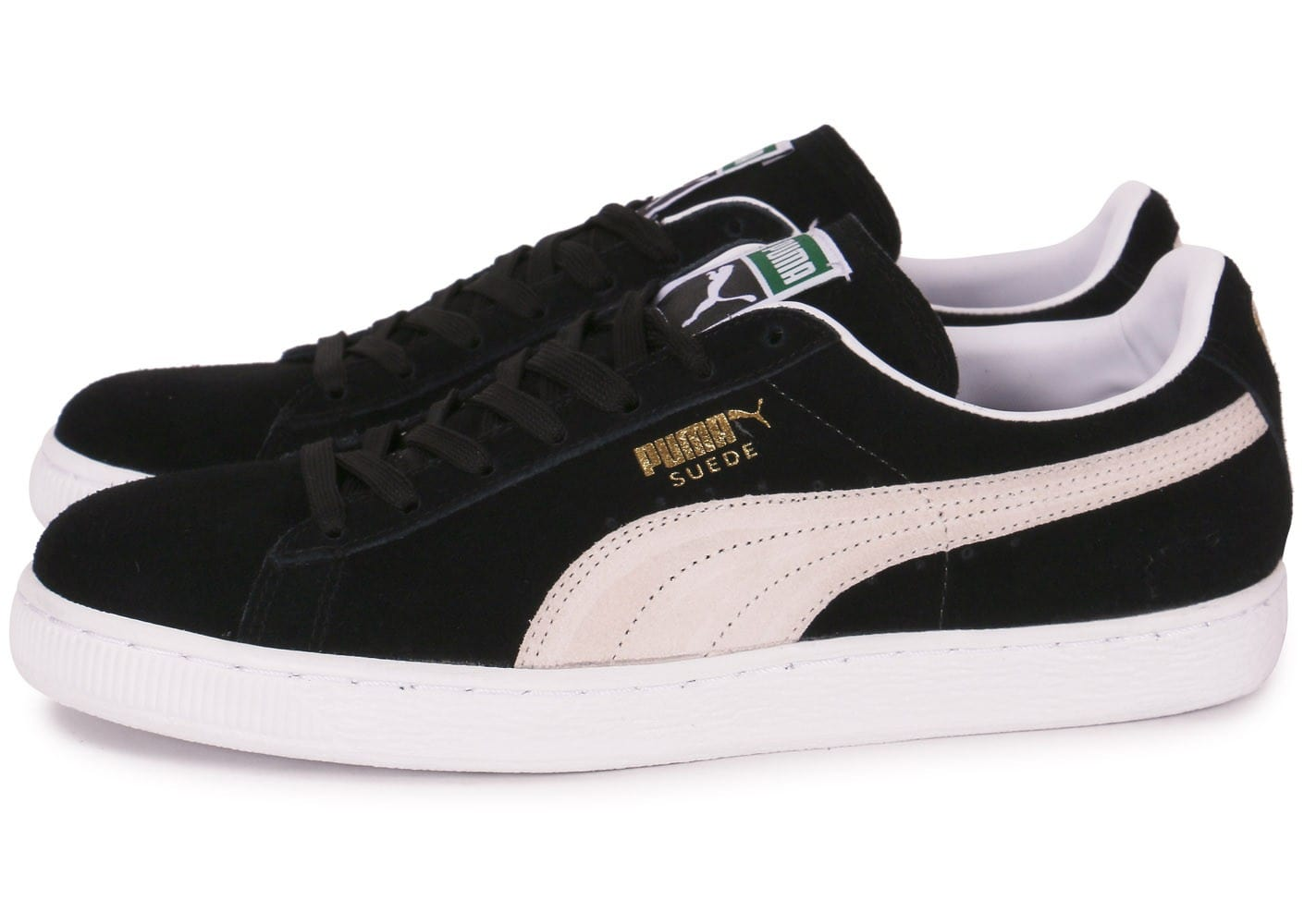 Puma Basket Classic, Basses homme- Noir (Black/White)- 4 UK 37 EU