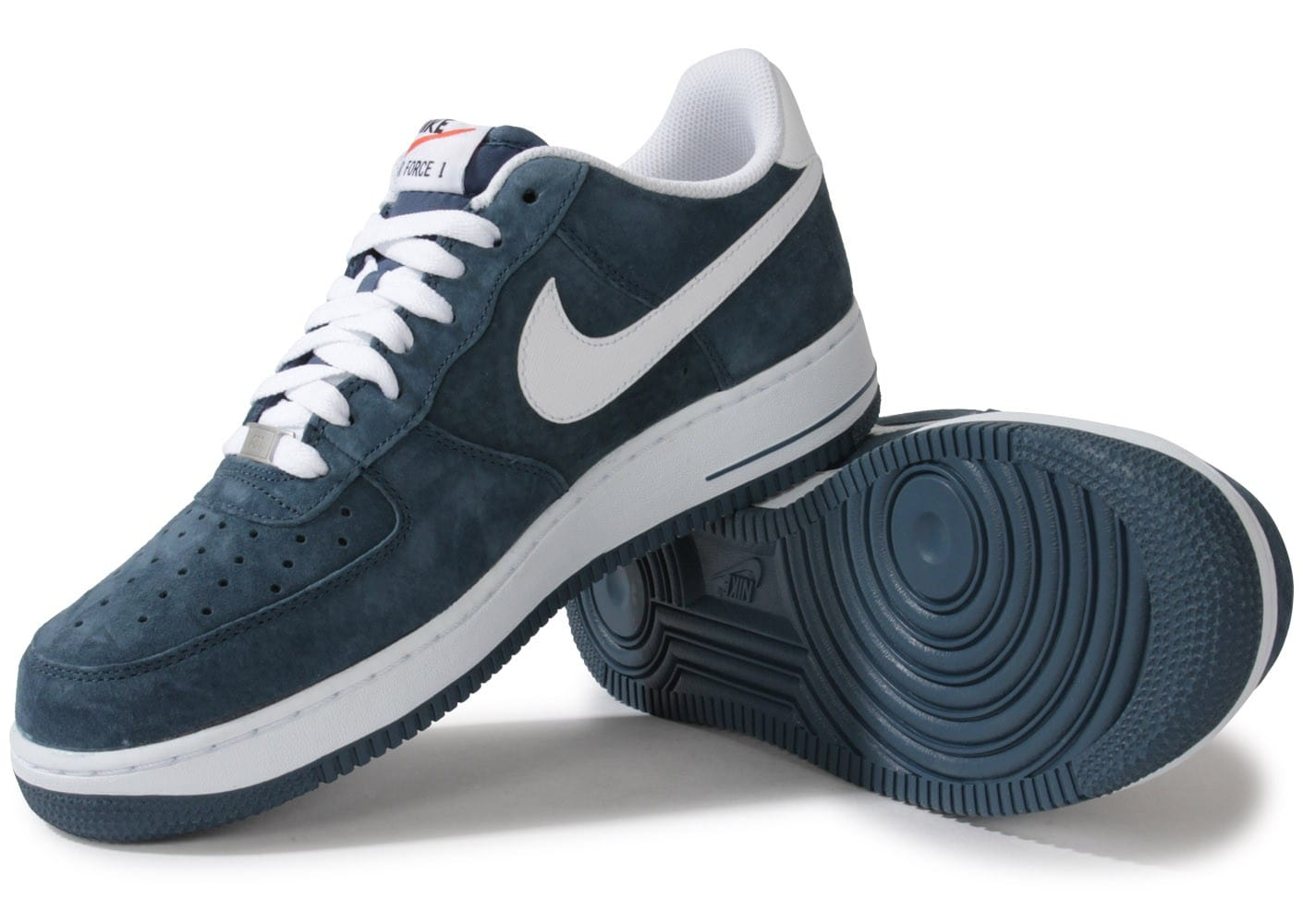 sale retailer 59652 a58fe ... italy chaussures nike air force 1 suede slate bleue vue intérieure  5b11a cb341 ...