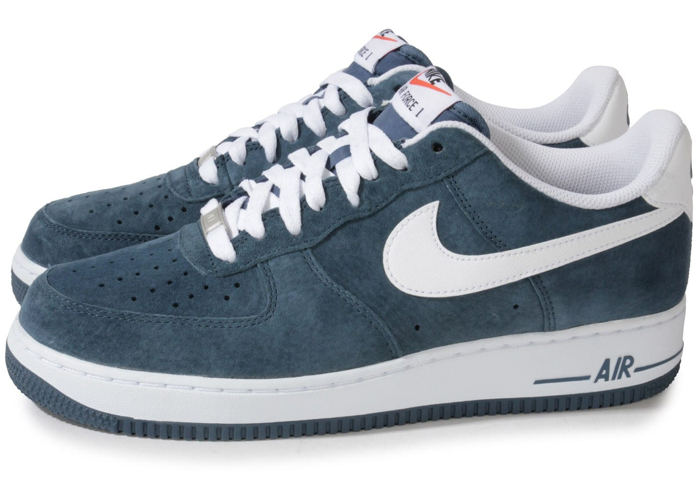 magasin d'usine ee54d 5d568 Nike Air Force 1 Suede Slate Bleue - Chaussures Baskets ...