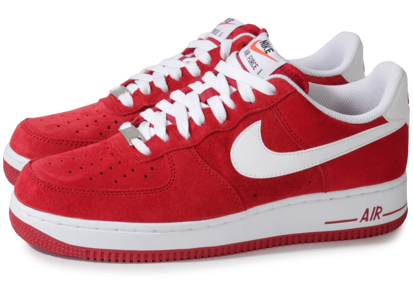 Nike Air Force 1 Suede Rouge - Chaussures Baskets homme ...