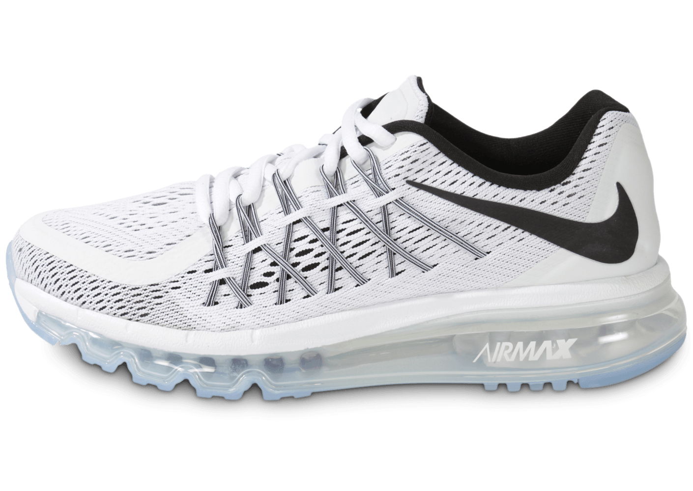 Nike Air Max 2015 Gs Blanche Et Noire - Chaussures Chaussures - Chausport