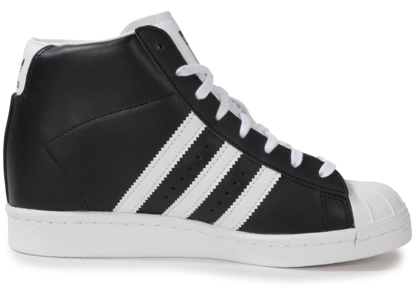 ... Chaussures adidas Superstar Up Compensee Noire vue dessous ...