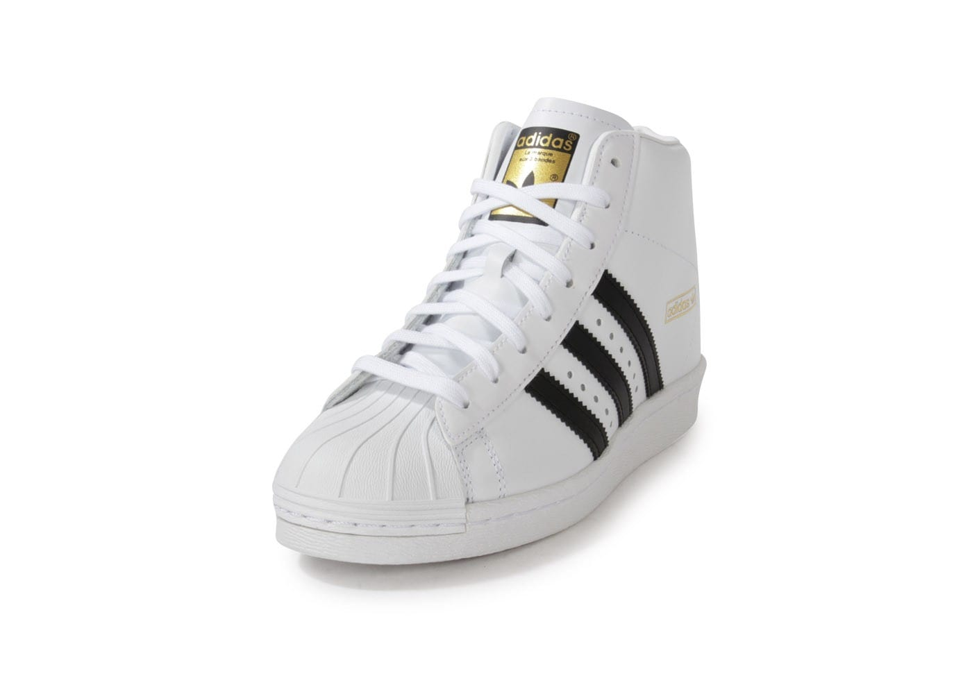 ... Chaussures adidas Superstar Up Compensee Blanche vue avant ...