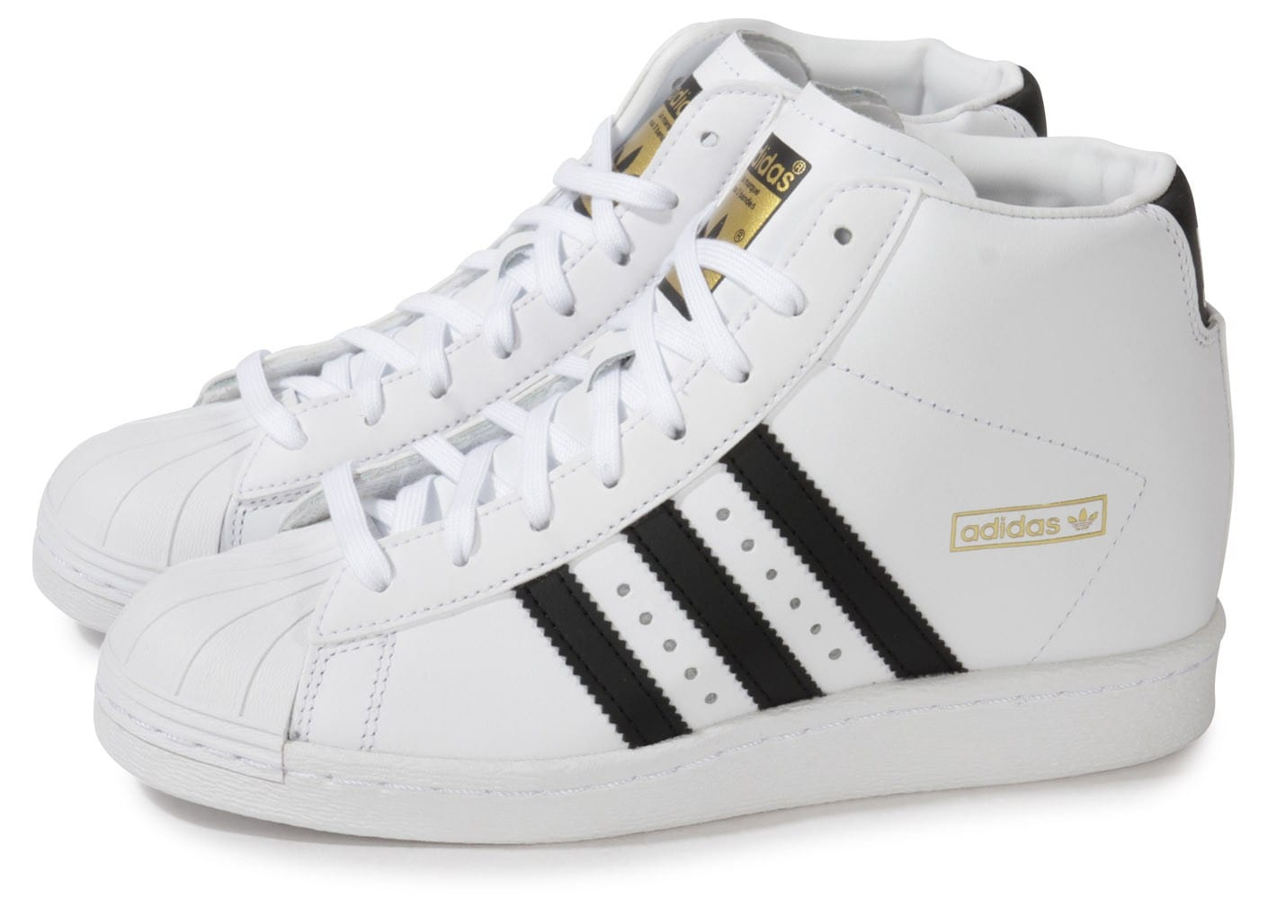 Up Chaussures Compensee Blanche Superstar Chausport Adidas rxBdoeWC