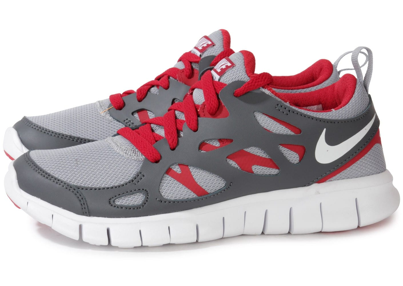 official photos 8473c 925a4 ... where can i buy cliquez pour zoomer chaussures nike free run 2 junior  grise et rouge ...