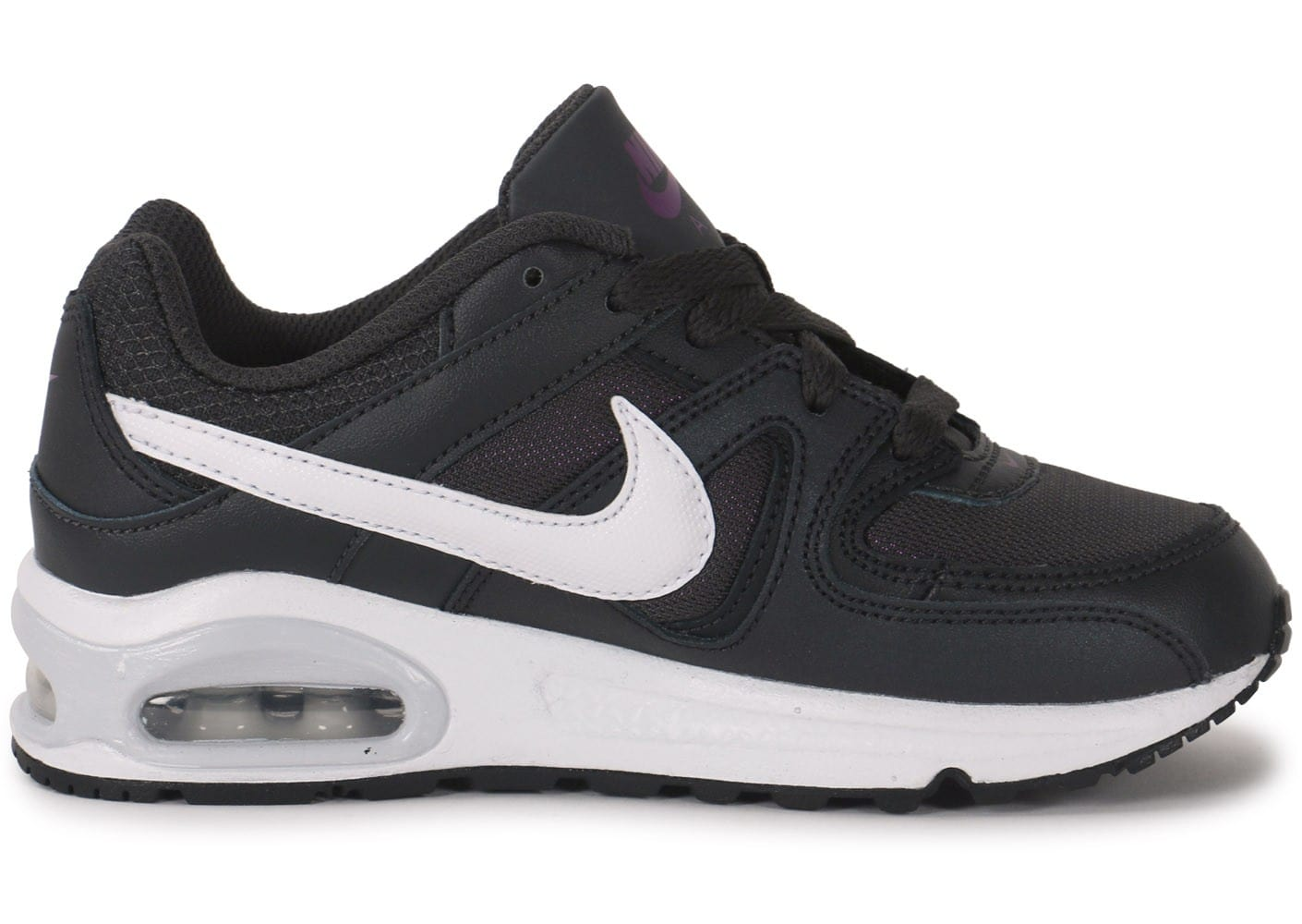 Nike Air Max Command gris anthracite et violet Enfants