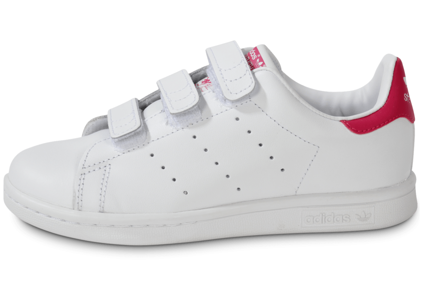 adidas Stan Smith scratch rose et blanche enfant