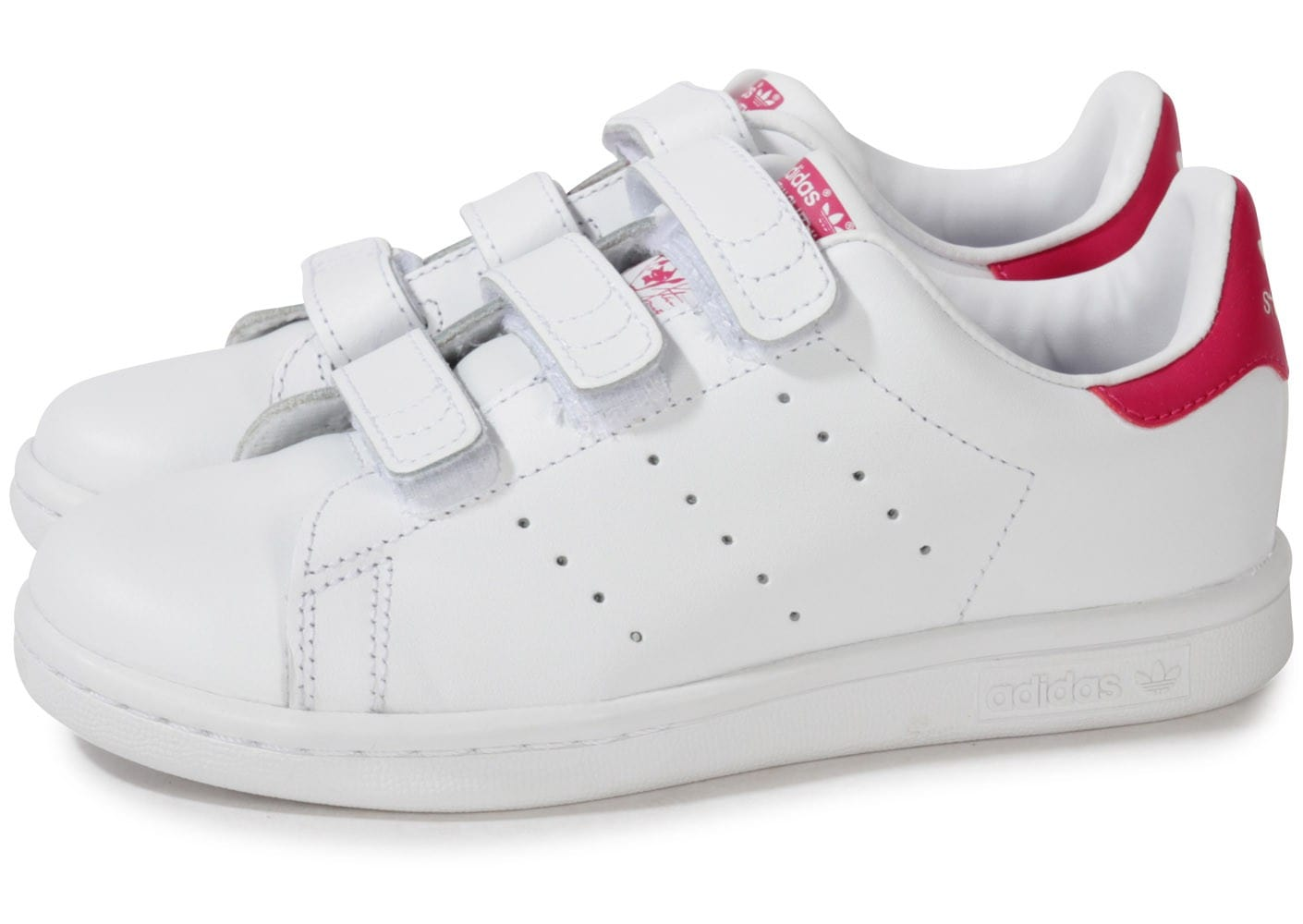 adidas stan smith scratch rose et blanche enfant chaussures adidas chausport. Black Bedroom Furniture Sets. Home Design Ideas