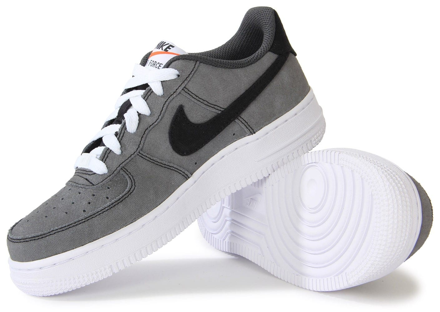 nike air force 1 low grise gs chaussures chaussures. Black Bedroom Furniture Sets. Home Design Ideas